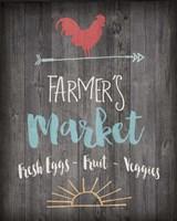 Farmer's Market - Chalkboard Fine Art Print