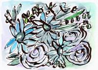 Beach Glass Flowers II Framed Print