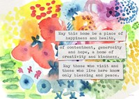 Jewish Home Blessing Floral Fine Art Print