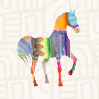 Colorful Horse III Fine Art Print