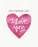 Mother's Day Heart Fine Art Print