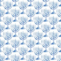 Menorah Pattern Fine Art Print