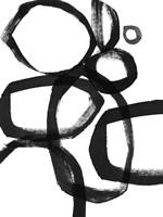 Brushstroke Circles II Framed Print