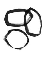 Brushstroke Circles III Framed Print