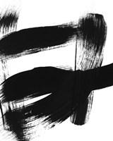 BW Brush Stroke II Framed Print