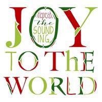Joy to the World on White Fine Art Print