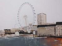 Ferris Wheel Landscape Fine Art Print