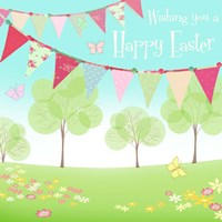 Happy Easter Flags Fine Art Print