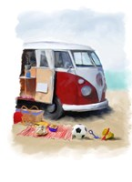 Beach Van Fine Art Print