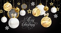 Merry Christmas Gold Fine Art Print