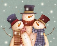 Friends - Snowmen Fine Art Print