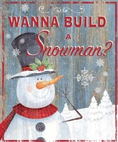 Build a Snowman Fine Art Print