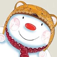 Delightful Snowman Fine Art Print