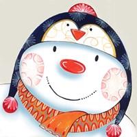 Penguin Snowman Fine Art Print