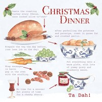 Christmas Dinner Framed Print