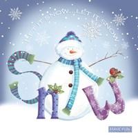 Snowman Snow Fine Art Print