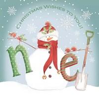 Snowman Noel Fine Art Print