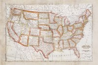 Map of USA Fine Art Print