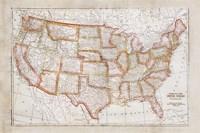 Map of USA Framed Print