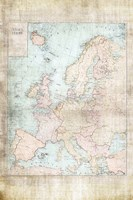 Central Europe Map WWII Fine Art Print