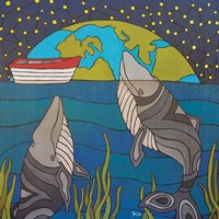 Night Whales Fine Art Print
