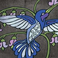 Hummingbird on Black II Fine Art Print
