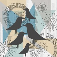 Birds & Triangles II Fine Art Print
