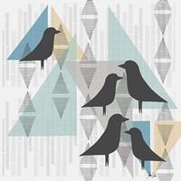 Birds & Triangles III Fine Art Print
