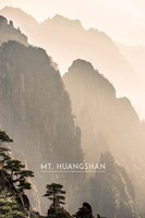 Vintage Mount HuangShan, Yellow Mountains, China, Asia Fine Art Print