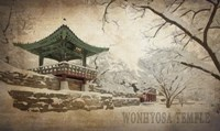 Vintage Winter at Wonhyosa Temple, Korea, Asia Fine Art Print