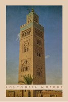 Vintage Koutoubia Mosque, Marrakesh, Morocco, Africa Framed Print