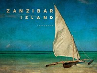 Vintage Zanzibar Island, Tanzania, Africa Fine Art Print