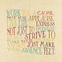 Work for a Cause Fine Art Print