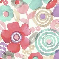 Ocean Shores Floral II Framed Print