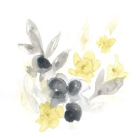 Citron Bouquet II Framed Print