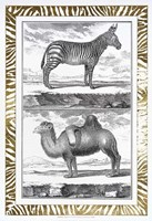 Gilded Safari II - Metallic Foil Fine Art Print