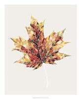 Fall Mosaic Leaf III Fine Art Print