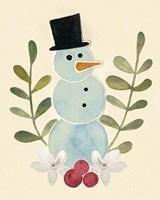 Snowman Cut-out II Framed Print