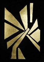 Gold Foil Symbiotic VI on Black Fine Art Print