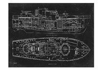 Boat Blueprint 1 Fine Art Print