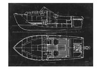 Boat Blueprint 2 Fine Art Print