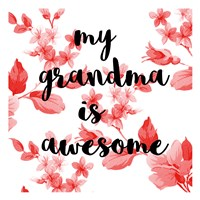 Awesome Grandma Fine Art Print