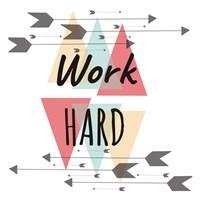 Work Hard Fine Art Print