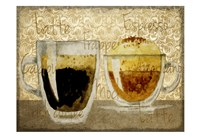 Damask Coffee 1 Fine Art Print