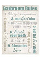 Concrete Bathroom Rules Fine Art Print