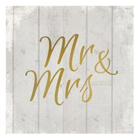 Mr and Mrs Fine Art Print