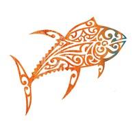 Tribal Koi 2 Fine Art Print