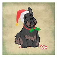 Merry Scottie Fine Art Print