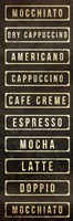 Coffee List Fine Art Print