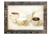 Row Of Coffee Cream Fine Art Print